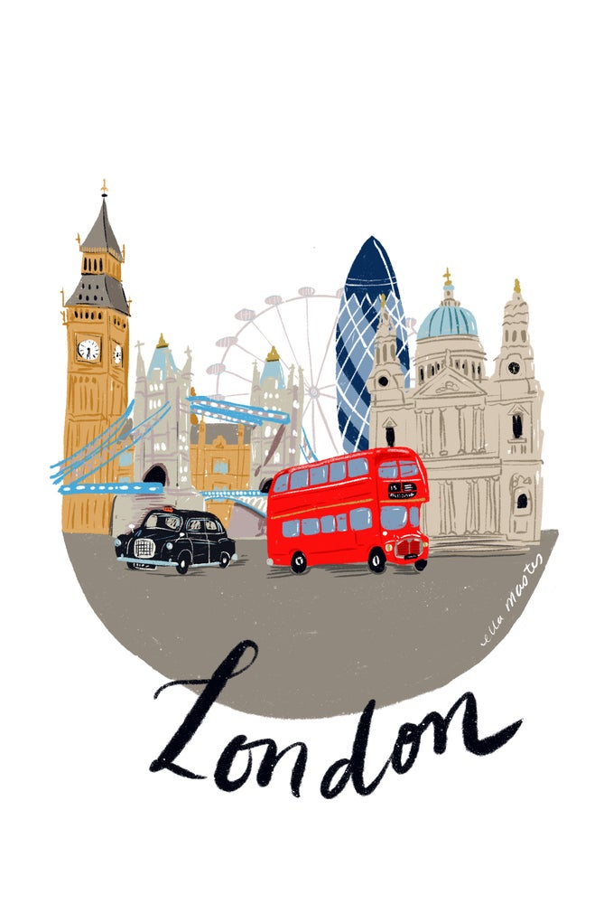 Image of A4 London print