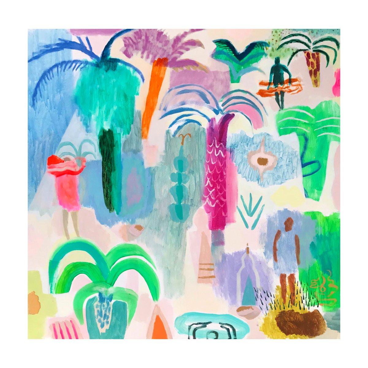 Palm Grove Garden Giclee Print