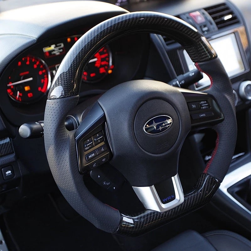 Image of Carbon Fiber D-Shape Steering Wheel