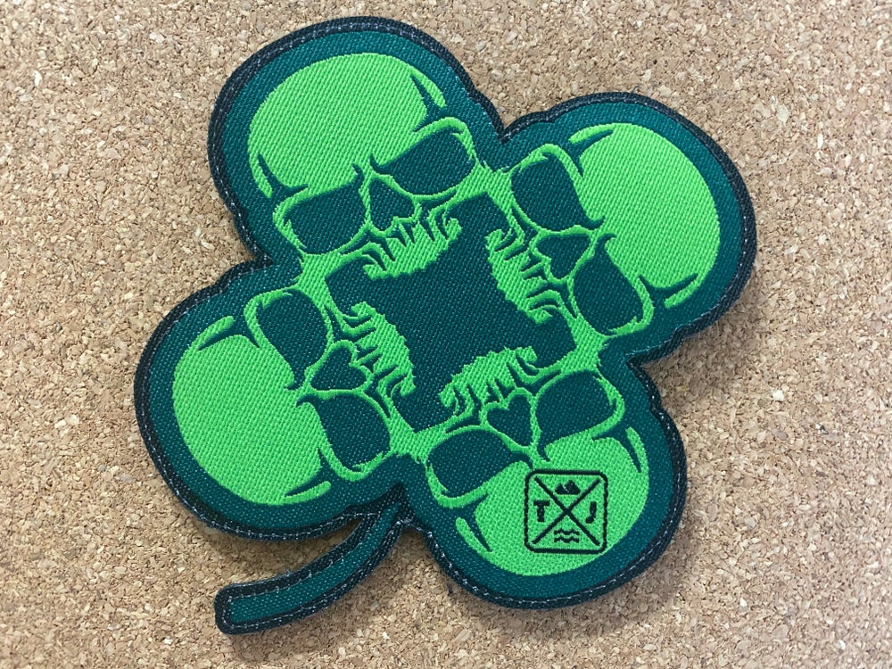 Image of V13 Official St. Patrick's Day SkullClover Patch/Sticker Set
