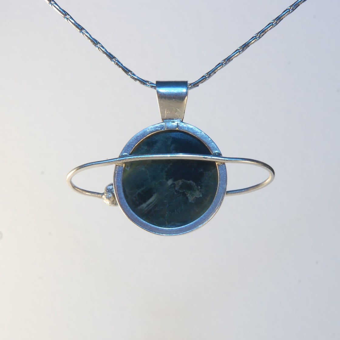 Image of Ocean Jasper Eye Planet Pendant