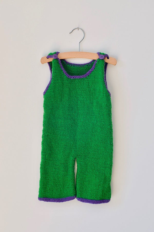Image of Knitted Jumpsuit - Grasshopper