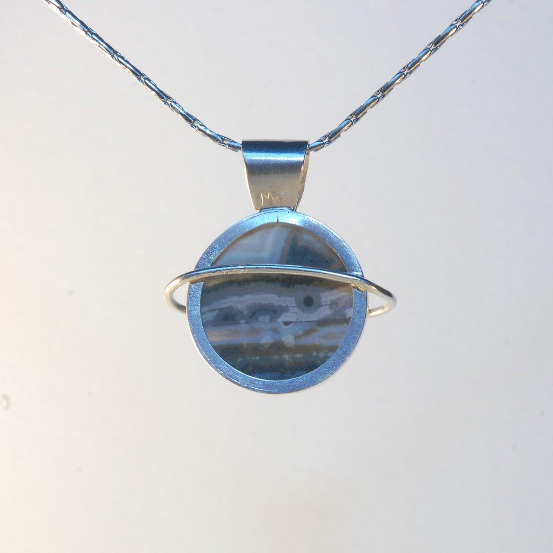 Image of Ocean Jasper Striped Planet Pendant