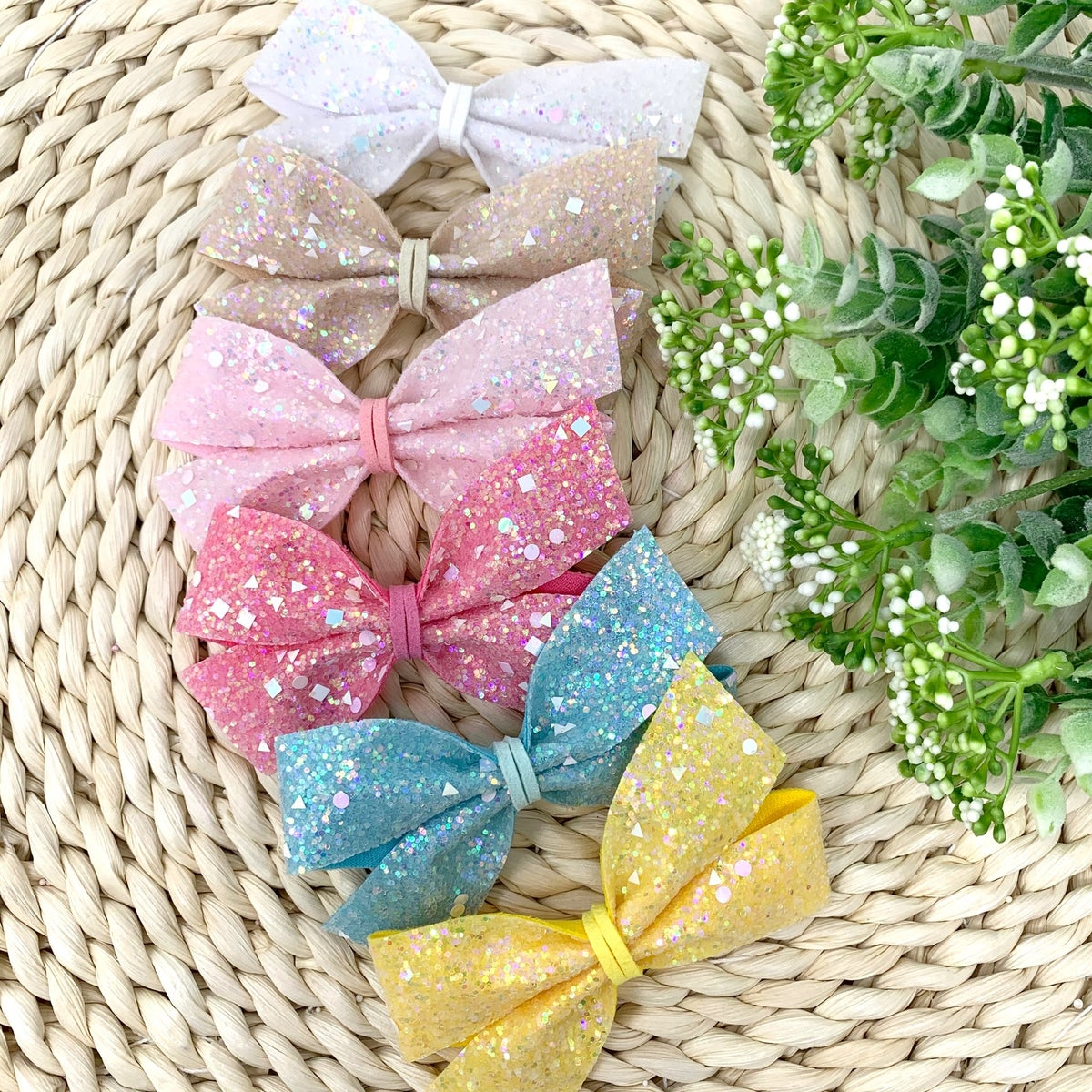 Image of Spring Glitter Lily Bows