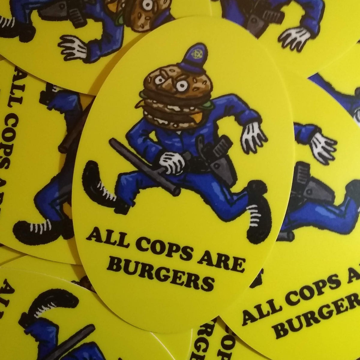 Image of All Cops are Burgers Sticker