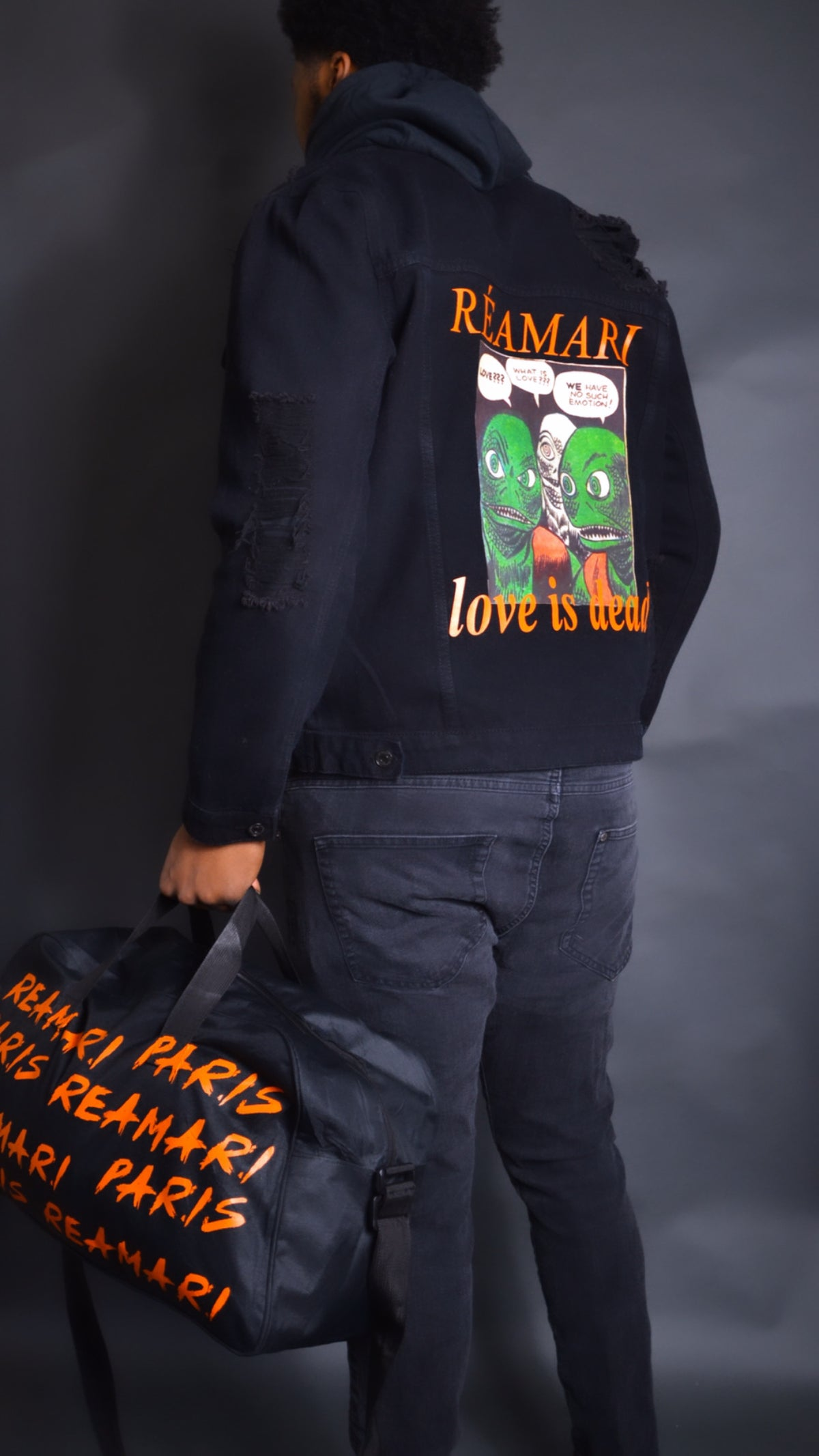 Love is dead denim jacket