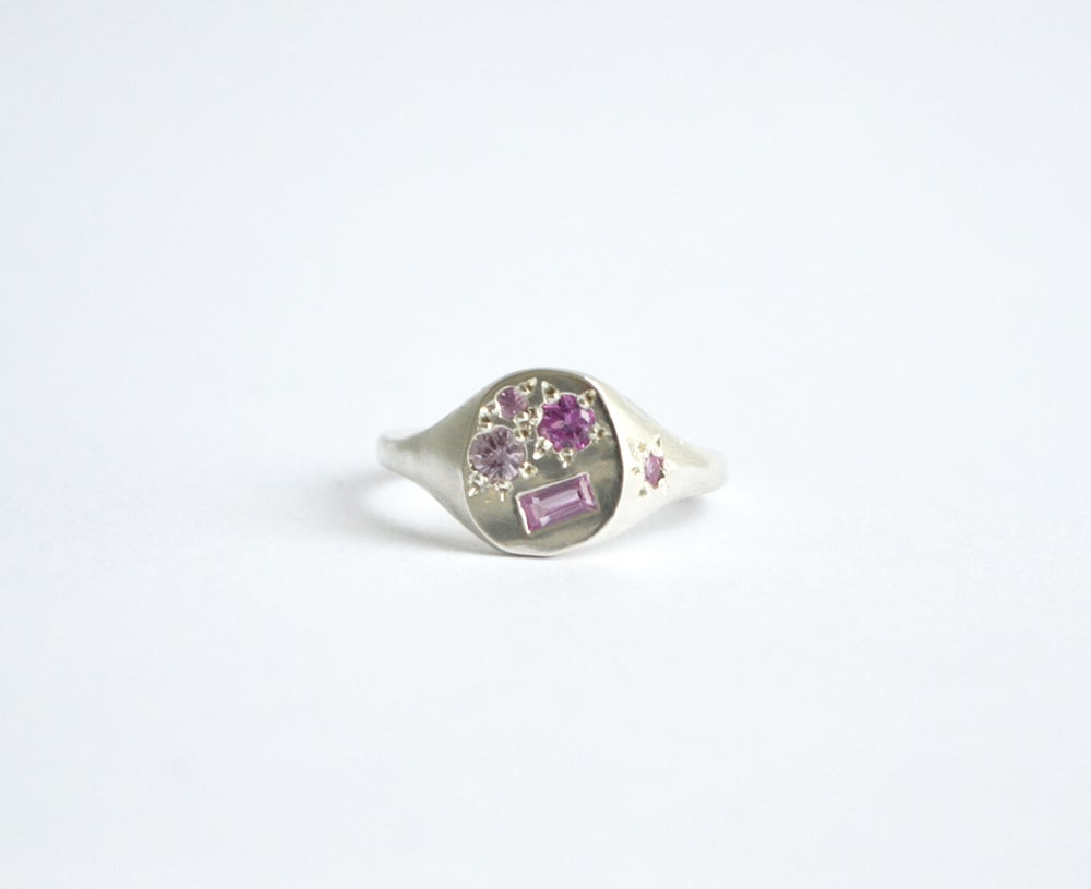 Image of Pink Neapolitan silver