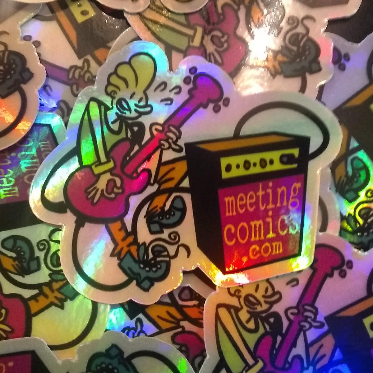 Image of Meeting Comics Kevin Holofoil Sticker