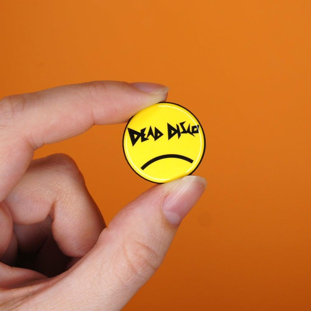 Image of Sad Dead Disco Smiley Button