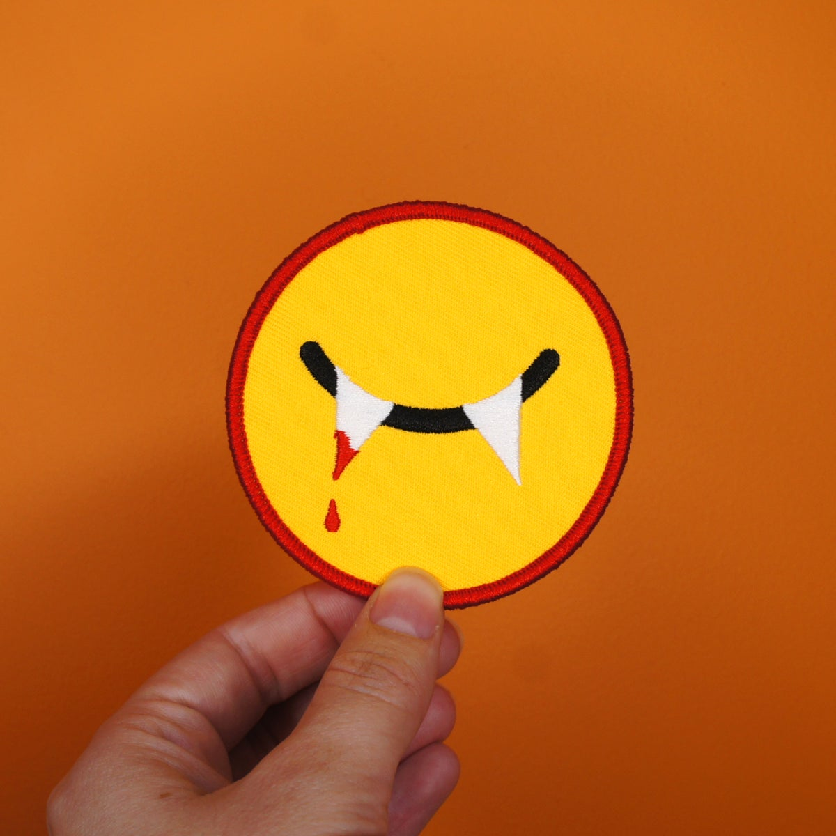 Image of Vamp Smiley Patch