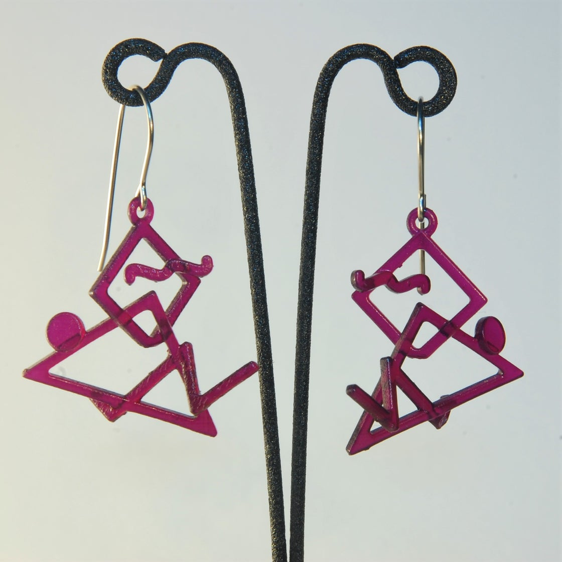 Image of Retro-3 3D Printed Earrings