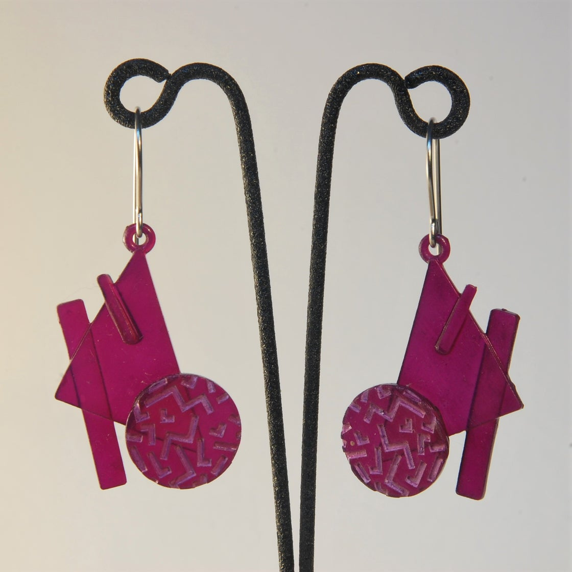 Image of Retro-4 3D Printed Earrings