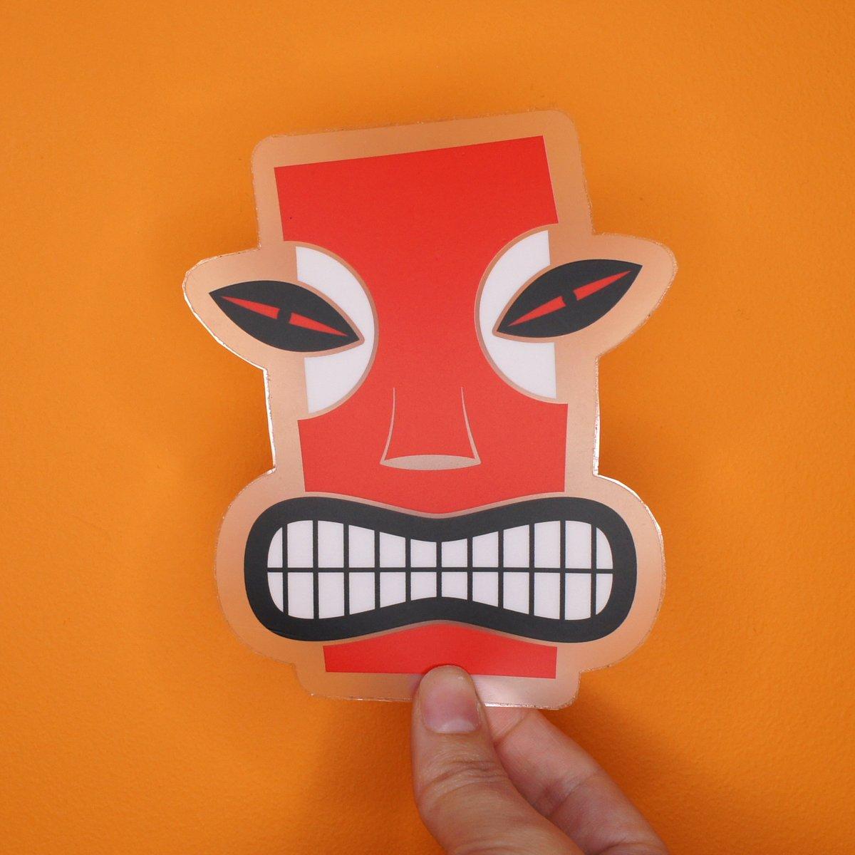Angry Tiki Sticker