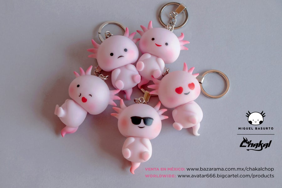 Image of Axolotl keychain FULL SET