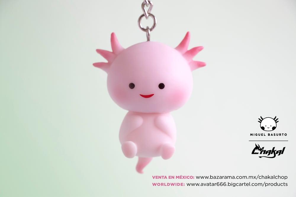 Image of Axolotl keychain individual