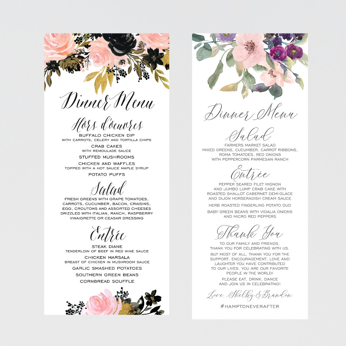 Image of MENU CARD