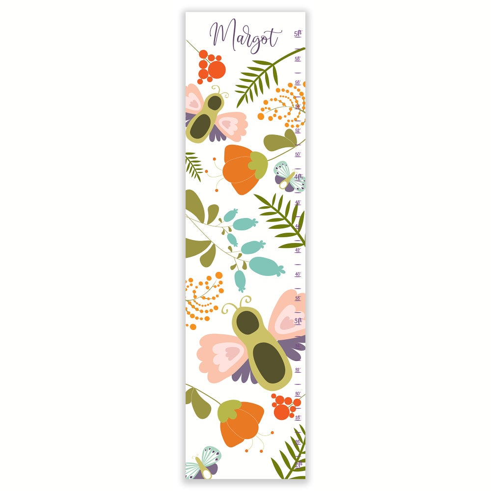 Image of Garden Bugs Personalized Canvas Growth Chart