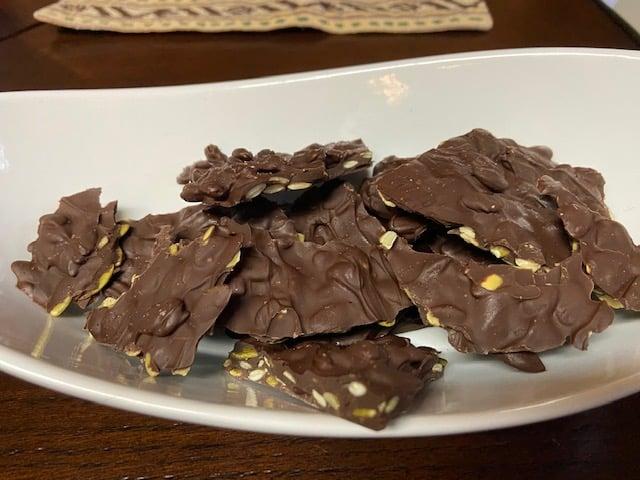 Image of Chocolate Pumpkin Seed Bark