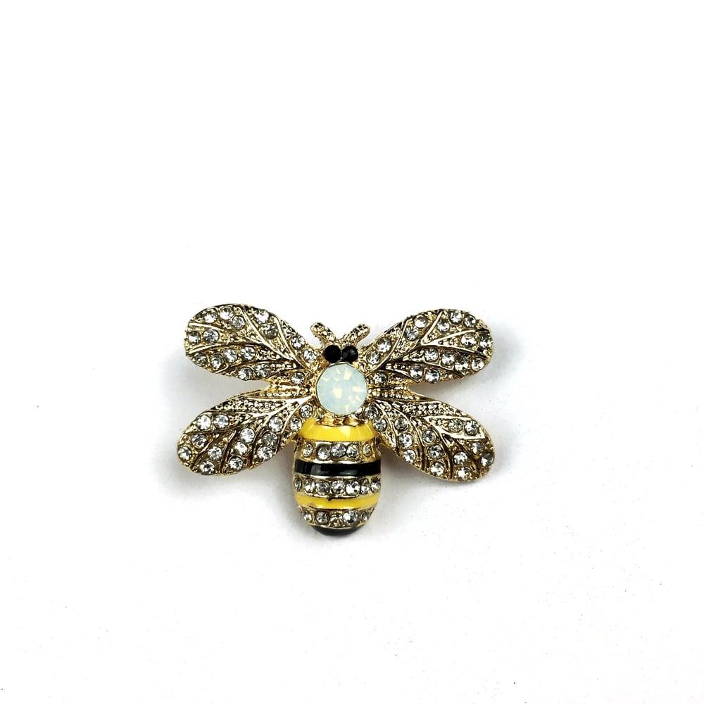 Image of NEW JEWELED BEE| LUXURY LAPEL PIN