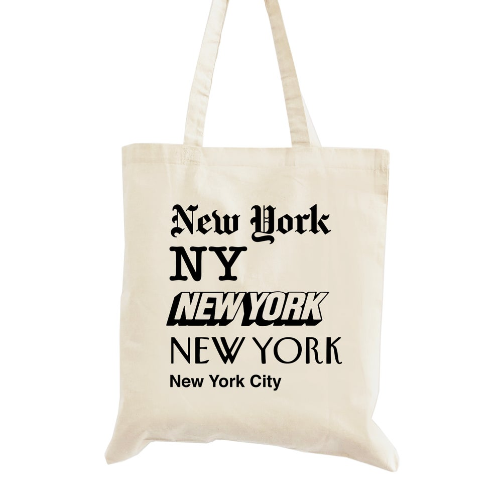Image of New York, New York Wedding Welcome Tote Bag