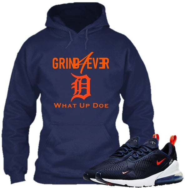 Image of GRIND4EVER DETROIT HOODIE BLUE with FREE MASK