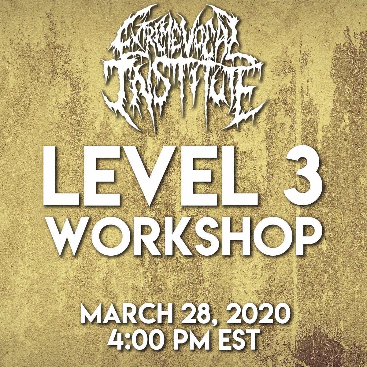 3/28 - Level 3 Workshop