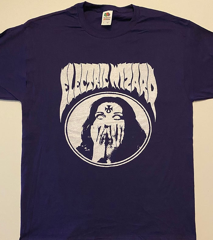 "Image of Electric Wizard "" Inverted Ankh Girl  Purple T-shirt"