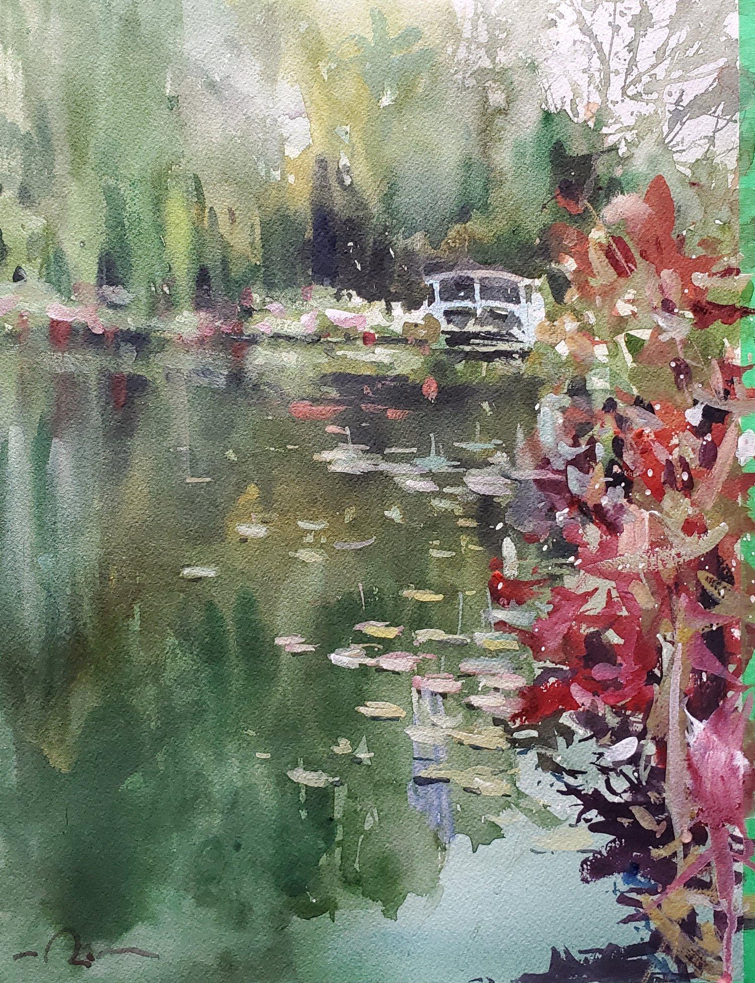 Image of ORIGINAL Monet's Garden II