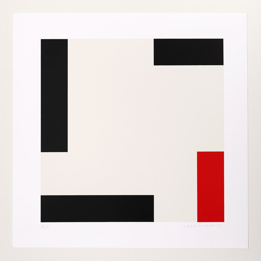 Image of Jo Niemeyer, Untitled, IV / X, grey / black / red