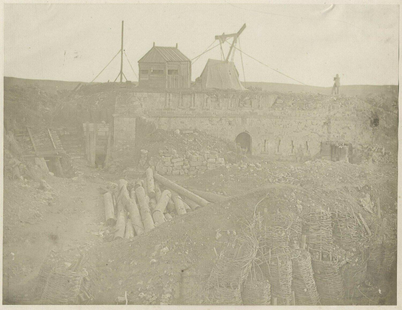 Image of Robertson & Beato: 'Base of the Malakoff Tower', Crimea ca. 1855