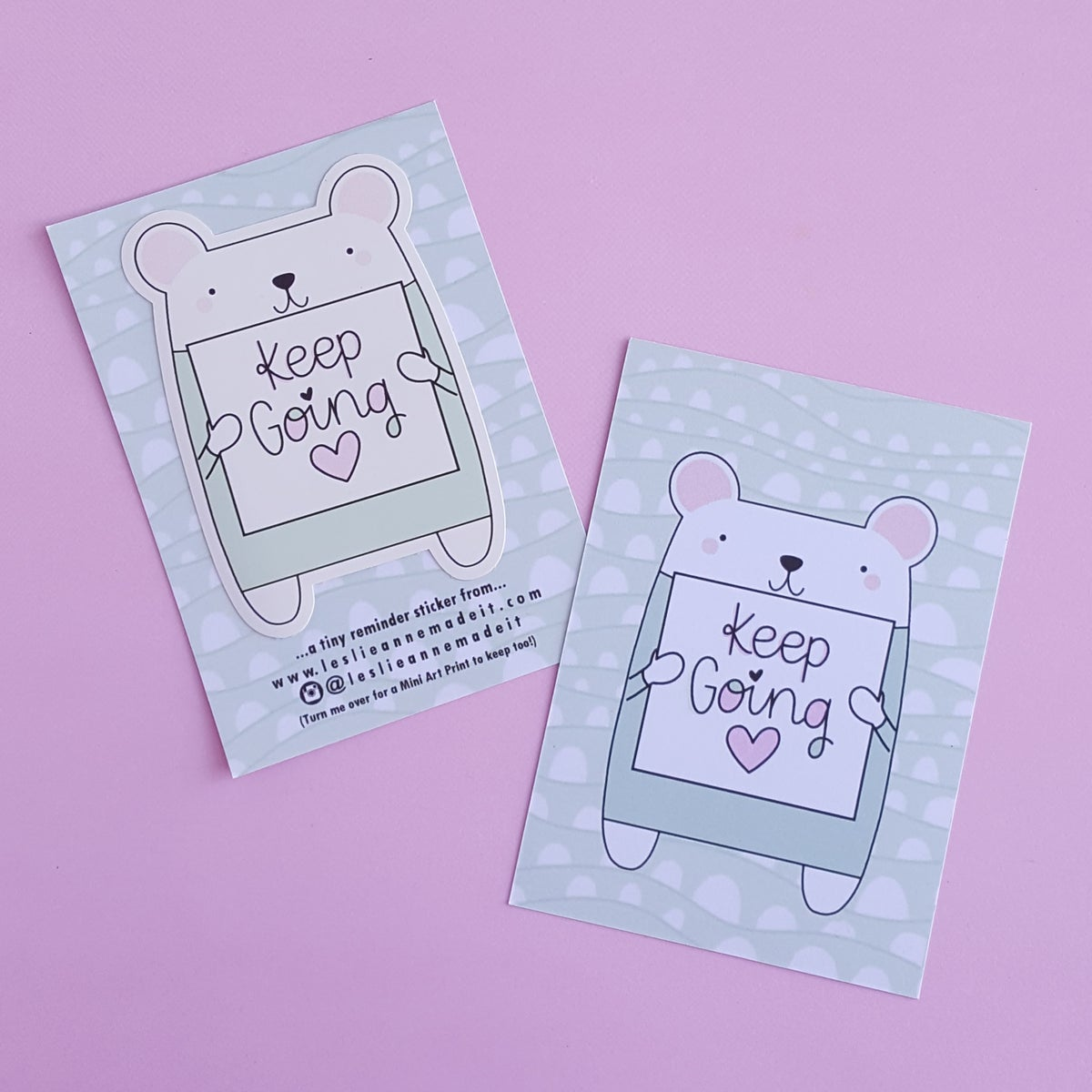 Keep Going : Illustrated Die Cut Vinyl Sticker