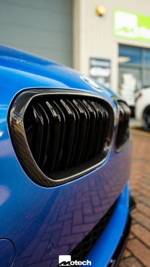 Image of  BMW 1 SERIES (LCI) Carbon & ABS Plastic Double Slat Kidney Grills
