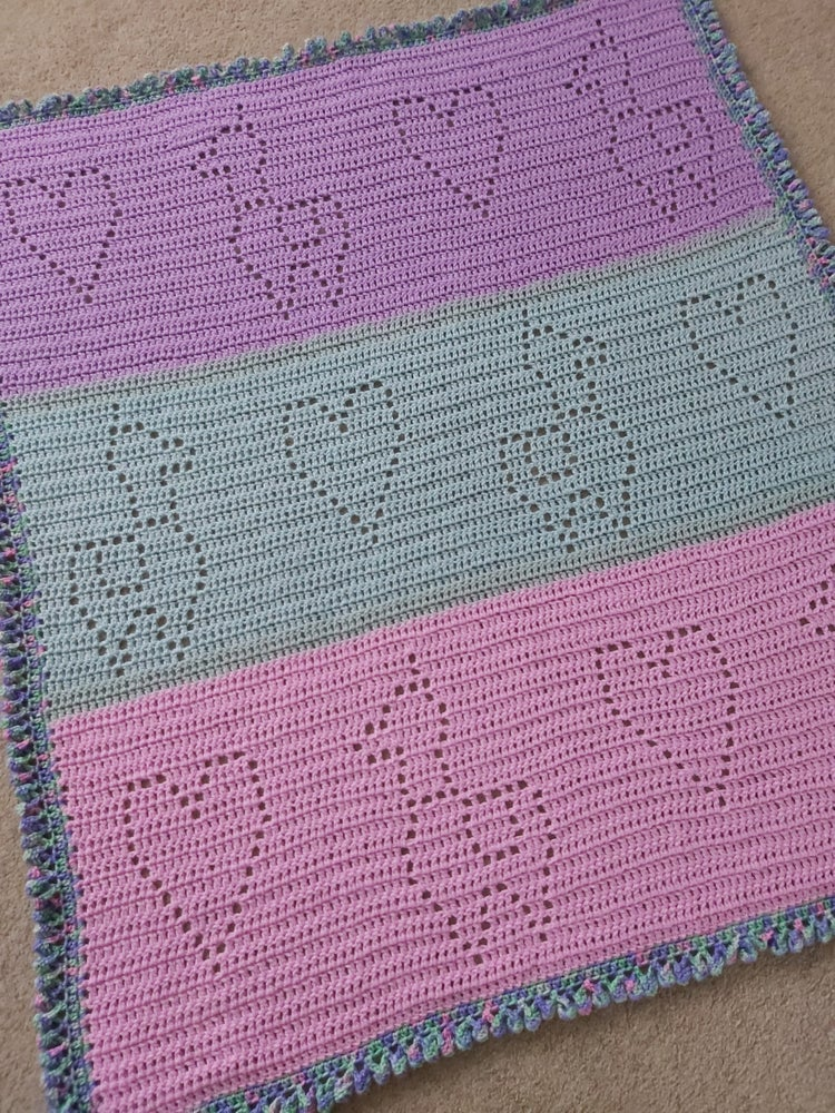 Image of Hearts and Llamas Baby Blanket