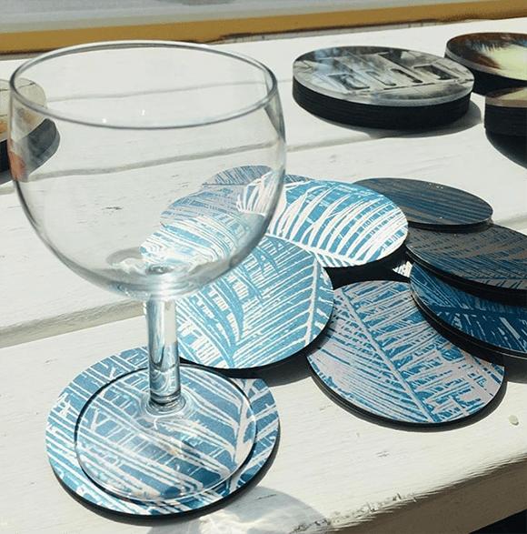 Funky Glass Coasters 🍷🍷🍷