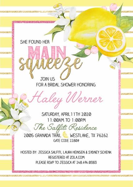 Image of Haley's Bridal Shower Invitations