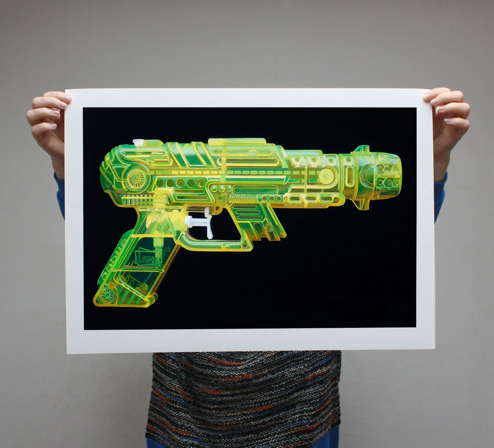 Image of 'Yellow Pistol' - Limited Edition Print - 54cm x 35cm