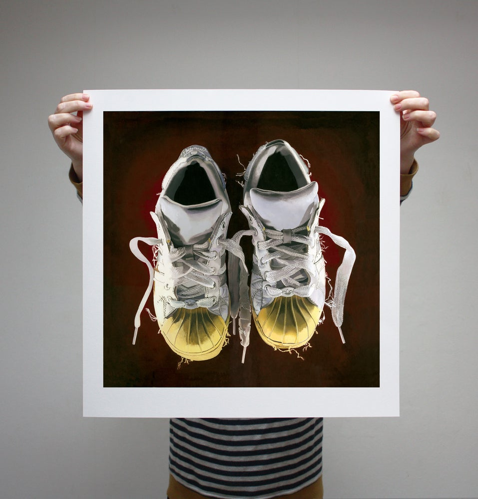 Image of 'Trainers' - Limited Edition Print - 65cm x 65cm