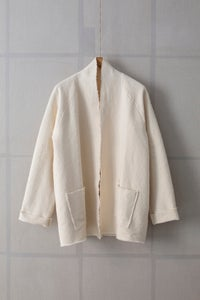 Image of SHORT NATURAL KIMONO COLLAR JACKET by MITTAN