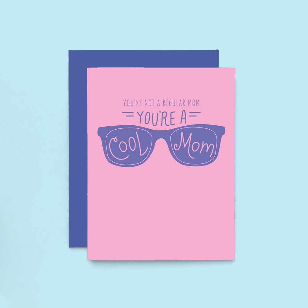 Image of cool mom letterpress card - happy mother's day greeting card - mean girls card