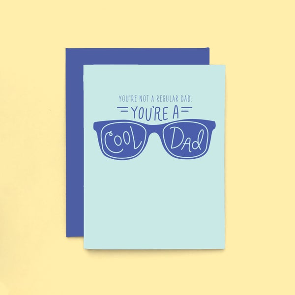 Image of cool dad letterpress card - happy father's day greeting card - mean girls card