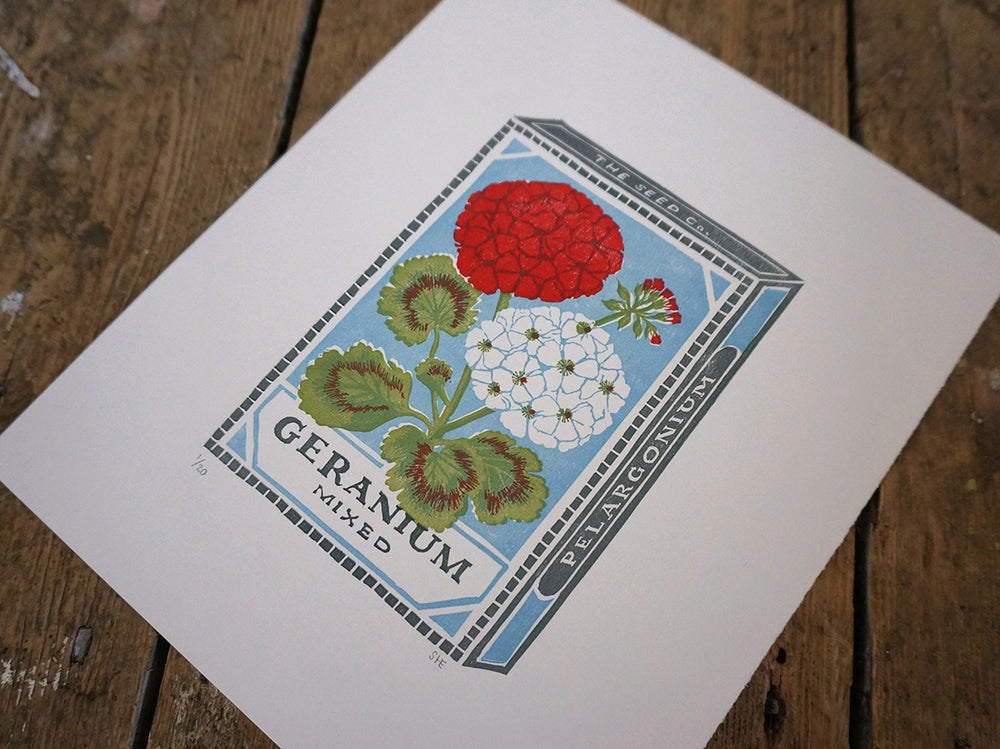 Image of December Print - Geranium
