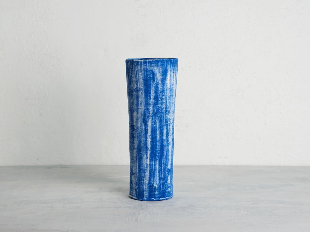 Image of Denim Cylinder Vase