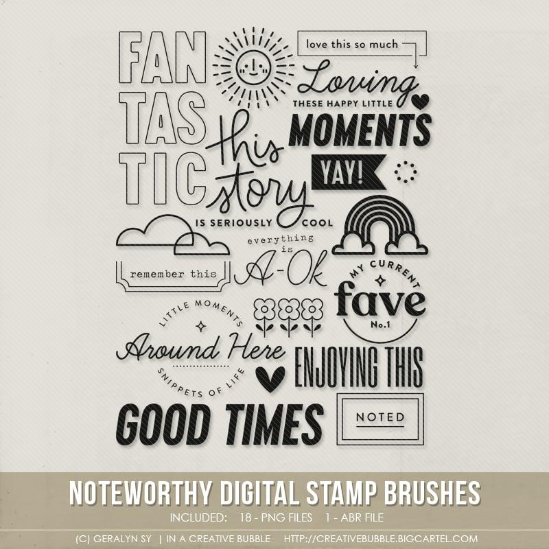 Image of Noteworthy Stamp Brushes (Digital)