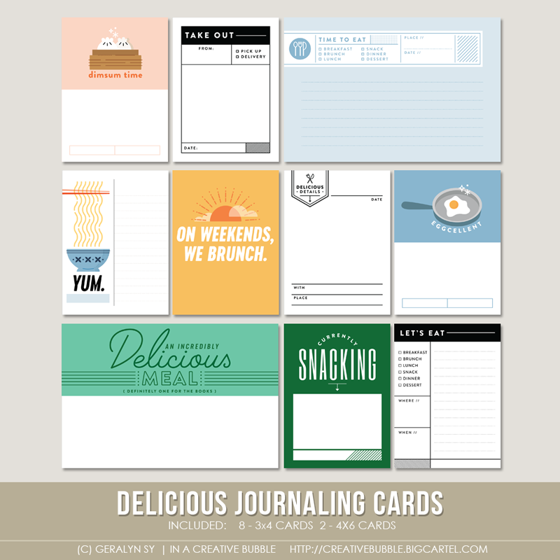 Image of Delicious Journaling Cards (Digital)