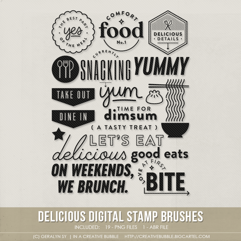 Image of Delicious Stamp Brushes (Digital)