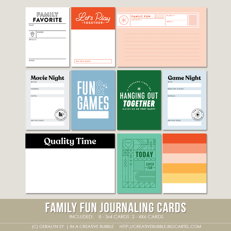 Image of Family Fun Journaling Cards (Digital)