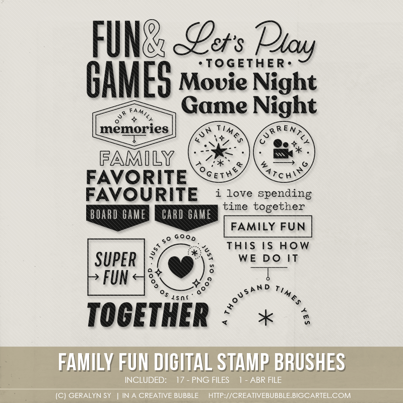 Image of Family Fun Stamp Brushes (Digital)