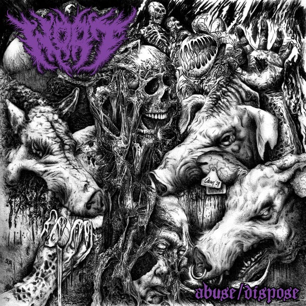 Image of WOAT - abuse/dispose DigiPack CD [pre-order]