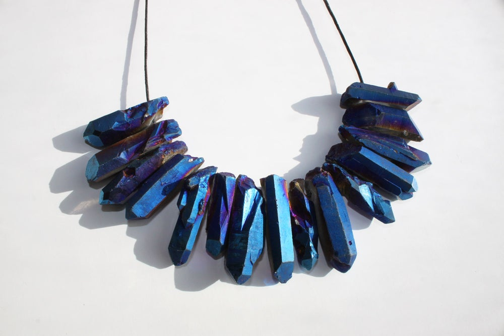 Image of Crystal Necklace - Blue