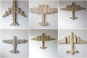 Image of custom hand-knit aeroplanes